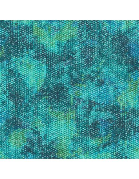Tkanina bawełniana Marine Atlantia Scales Metallic