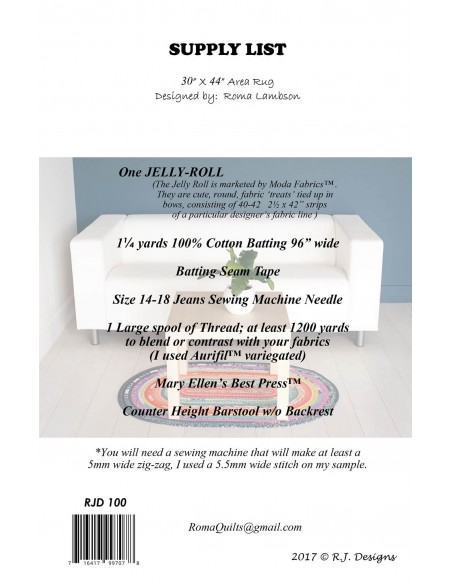 Wykrój Jelly Roll Rug