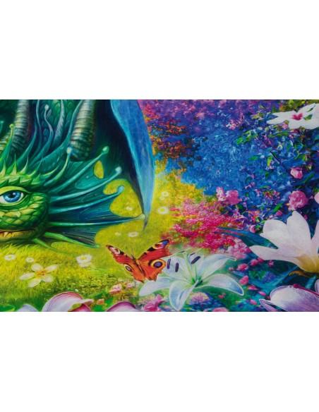 Panel bawełniany Wild Dragon & Castle