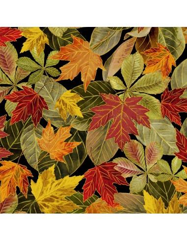 Multi Fall Leaves Metallic Timeless...