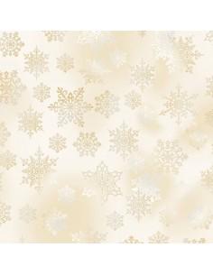 Snow Snowflakes Metallic...