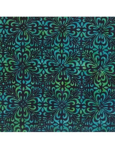 Navy Green Fancy Tiles Batik cotton...