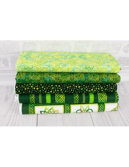 Tkanina bawełniana Green Celtic Knot Texture