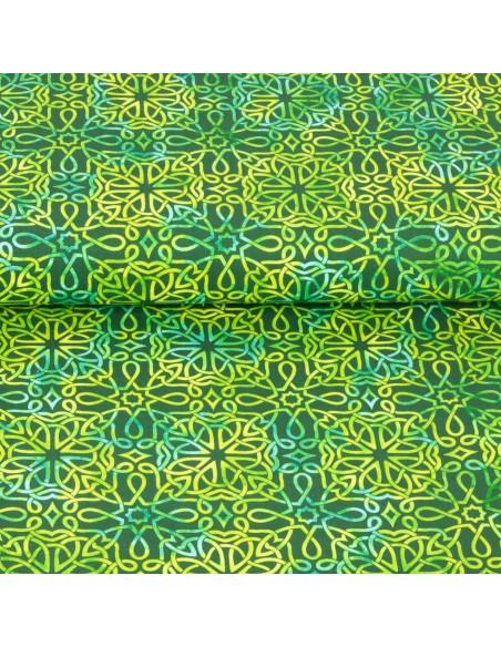 Tkanina bawełniana Emerald Celtic Knot Texture