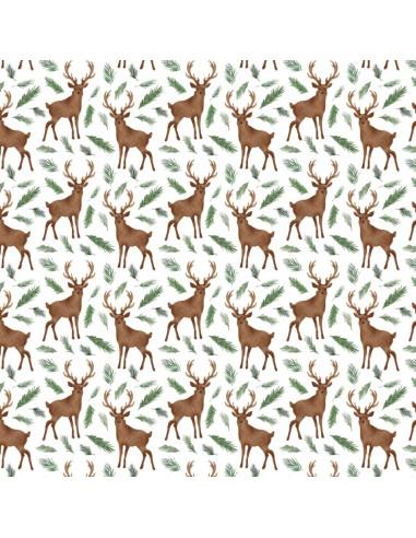 Kupon White Oh Deer 72 cm x 110 cm