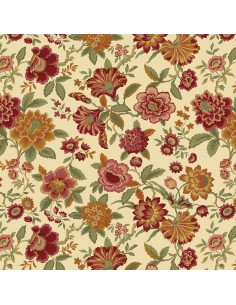 Cream Lady J cotton fabric