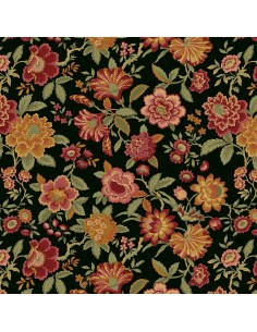 Black Lady J cotton fabric