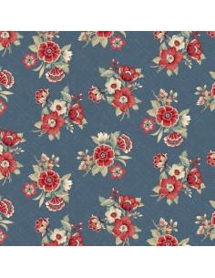 Slate Blue Bouquet cotton...