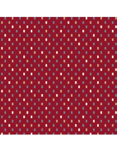 Red Tiny Boxes cotton fabric