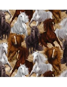 Multi Wild Horses cotton...
