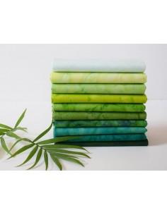 Zestaw 10 FQ Lava Tonal Clover batik