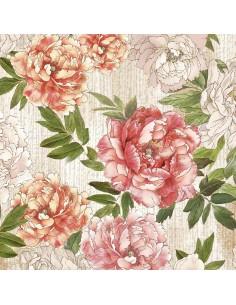 Multi Peonies Floral cotton...