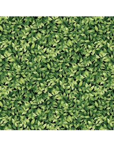 Green Leaves cotton fabric