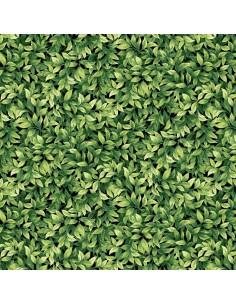 Tkanina bawełniana Green Leaves