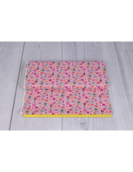 Flutterby Floral Love Little Dee Da Michael Miller cotton fabric