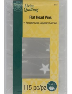 Flathead Numbered & Directional Pins 115ct