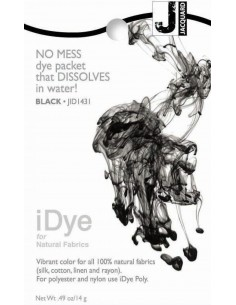 iDye 14g Black natural fabric