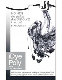 iDye Poly 14g Black synthetic fabric