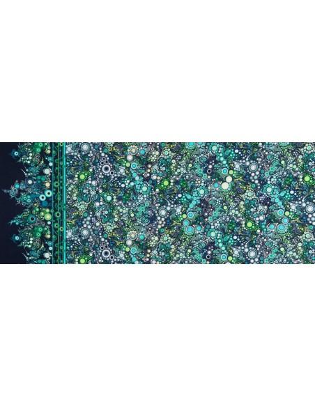 Tkanina bawełniana Ocean Multi Dot