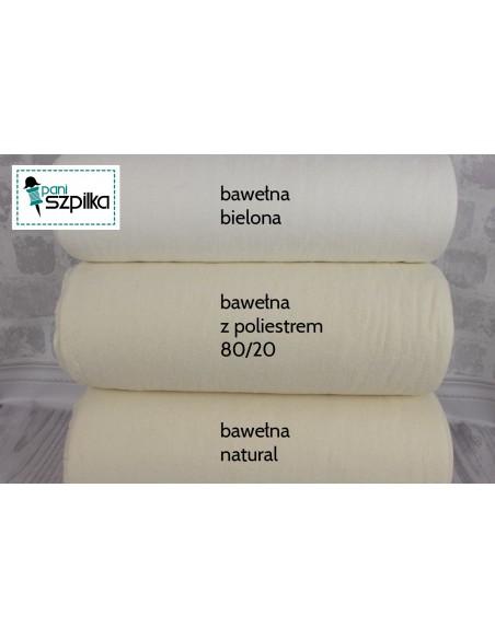 Wypełnienie 240 cm bawełniano-poliestrowe naturalne bez siatki