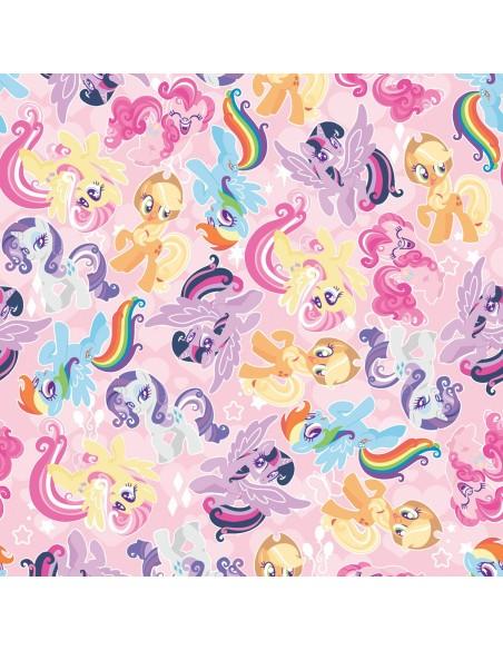 Tkanina bawełniana Kucyki Pony Packed Friends