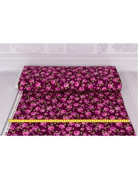 Tkanina bawełniana Purple Small Flowers