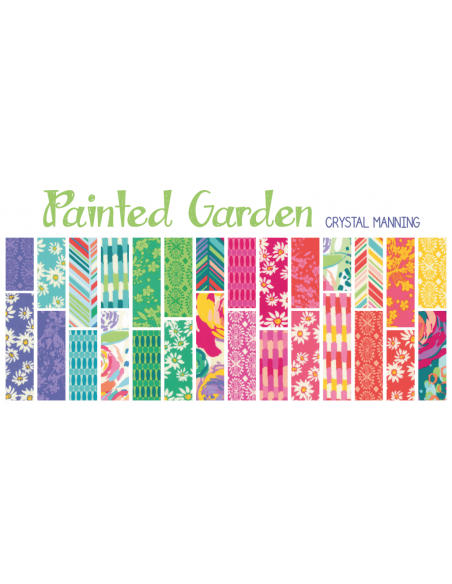 Mini charm pack Painted Garden
