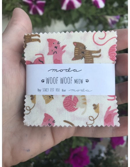 Mini charm pack Woof Woof Meow