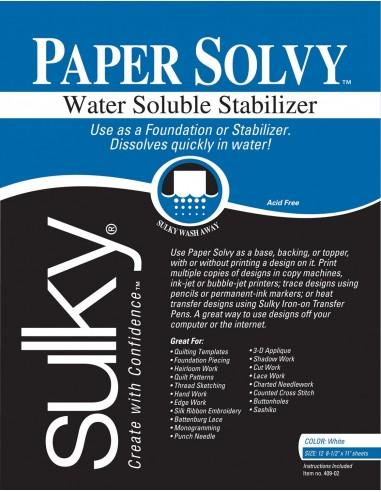 Sulky Papier Solvy 21,6cm x 28cm...