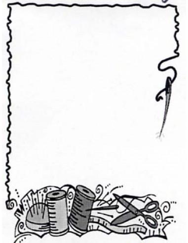 Naszywka - etykieta na quilt igły i nici