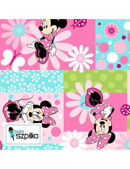 Tkanina bawełniana Disney Myszka Minnie Patch