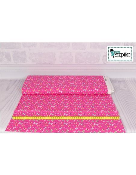 Tkanina bawełniana Pink Little Butterflies
