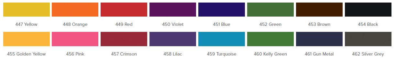 Barwniki do poliestru tkanin syntentycznych iDye Poly karta kolorów